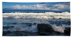 Maui Breakers Pano Beach Towel