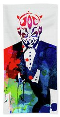 Maul In A Suite Watercolor Beach Towel
