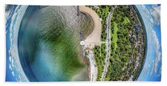 Beach Towel featuring the photograph Mckinley Park Little Planet by Randy Scherkenbach
