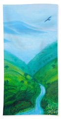 Beach Towel featuring the painting Medellin Natural by Gabrielle Wilson-Sealy