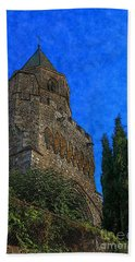 Medieval Bell Tower 5 Beach Sheet