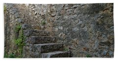 Medieval Wall Staircase Beach Sheet