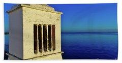 Mediterranean Chimney In Algarve Beach Sheet