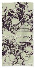 Melbourne Cup 1960 Beach Towel