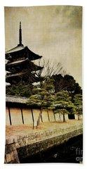 Memories Of Japan 4 Beach Sheet