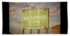 Memphis Hotel Sign Beach Towel