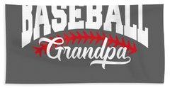 Mens Baseball Grandpa T-shirt Beach Towel