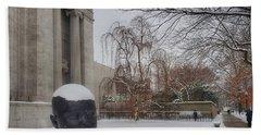 Mfa Boston Winter Landscape Beach Towel