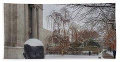 Mfa Boston Winter Landscape Beach Sheet