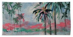 Miami Palms Beach Towel