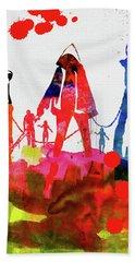 Michonne Watercolor Beach Towel