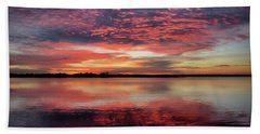 Mid October Sunset Beach Towel
