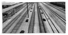 Middle Of The Tracks Beach Towel