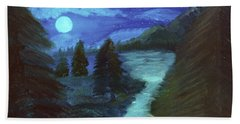 Midnight River Beach Towel