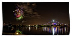 Midway Fireworks  Beach Towel