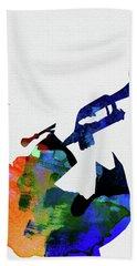 Miles Davis Watercolor Beach Towel