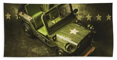 Military Green Beach Towel