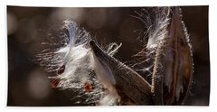 Beach Towel featuring the photograph Milk Pods In Magic Light by Tatiana Travelways