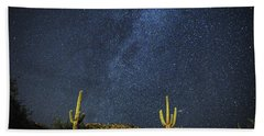 Milky Way And Cactus Beach Towel