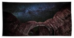 Beach Towel featuring the photograph Milky Way At Double Arch by David Morefield