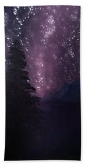 Milky Way Lake Beach Towel