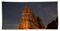 Milky Way On The Rocks Beach Towel
