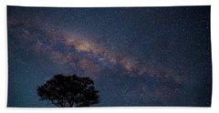 Milky Way Over Africa Beach Towel