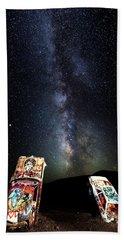 Milky Way Over Mojave Desert Graffiti 1 Beach Sheet