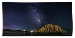 Milky Way Over Morro Rock Beach Towel
