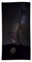 Beach Towel featuring the photograph Milky Way Over The Windows by David Morefield