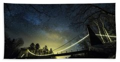 Milky Way Over The Wire Bridge Beach Towel