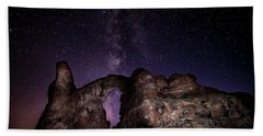 Beach Towel featuring the photograph Milky Way Over Turret Arch by David Morefield