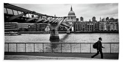 millennium Bridge 02 Beach Towel