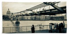 Millennium Bridge 03 Beach Towel