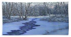 Millhaven Creek In Winter Beach Towel