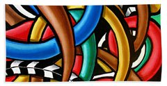 Colorful Abstract Art Painting Chromatic Intuitive Energy Art - Ai P. Nilson Beach Sheet