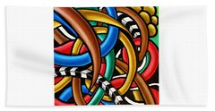 Colorful Abstract Art Painting Chromatic Intuitive Energy Art - Ai P. Nilson Beach Sheet