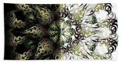 Beach Towel featuring the digital art Minimal Trance by Vitaly Mishurovsky