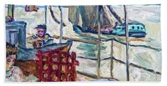Misia Serves On Edwards' Ship - Digital Remastered Edition Beach Towel