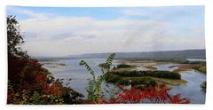 Mississippi River In The Fall Beach Towel