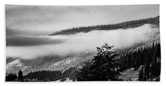 Beach Towel featuring the photograph Misty Mountain  by Pete Federico