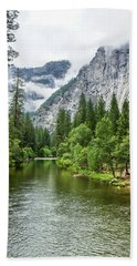 Misty Mountains, Yosemite Beach Towel
