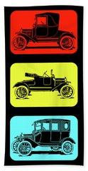 Beach Towel featuring the digital art Model T Ford Triple by David King