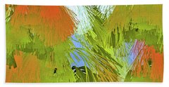 Modern Art   Tropical Flare  Abstract Beach Towel