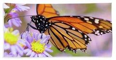 Monarch Close-up Beach Towel