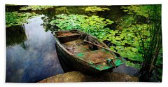 Monet's Gardeners Boat Beach Sheet