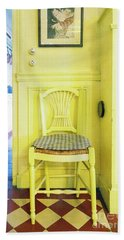 Monet's Kitchen Yellow Chair Beach Towel