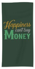 Money Happiness Beach Sheet