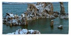Mono Lake Tufa Towers Sunrise Beach Towel