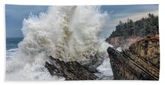 Monster Wave Beach Towel